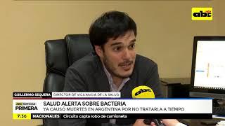 Salud alerta sobre bacteria