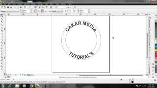 Membuat Teks Melingkar di Corel Draw