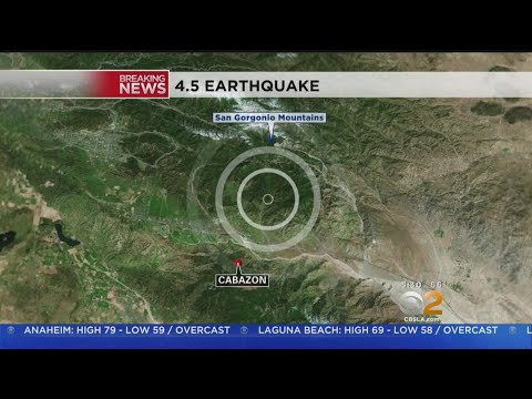Earthquake Rattles Large Area Of Southern California