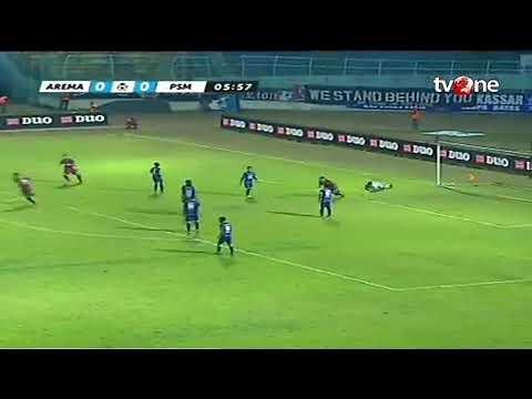 Highlight AREMA FC VS PSM MAKASAR 3-3 liga 1 gojek traveloka