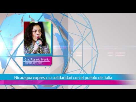 Nicaragua expresa su solidaridad con el pueblo de Italia