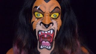 Only In Ur Mind: Welcome to Only In Ur Mind.  This week's character makeup is Scar from The Lion King.  I wasn't sure how this makeup was going to turn out because I decided to paint Scar mouth open.  But I think it turned out good and I hope you enjoy!Make-up used mehron paradise paint: orange, yellow, red, berry, light green, and  starblend in blackWolfe face: whiteCameleon: blackFAB: Indian brownmusic by: Chee Zee Jungle - Primal Drive by Kevin MacLeod is licensed under a Creative Commons Attribution license (https://creativecommons.org/licenses/by/4.0/)Source: http://incompetech.com/music/royalty-free/index.html?isrc=USUAN1100684Artist: http://incompetech.com/ For most of the products I use please check out my affiliate link : https://store.facepaint.com/tasharo.html