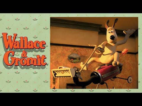 Video of Wallace & Gromit movie, showing a homemade contraption to suck up crackers