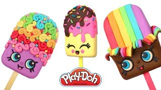 Play Doh Ice Cream Family. Cute Kawaii Food DIY. Play Doh Video Compilation Tutorials for Kids