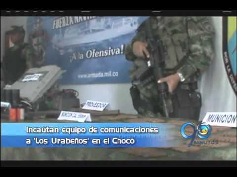 Enero 29 de 2013. Incautan equipo de comunicaciones a 'Los Urabeños' en el Chocó