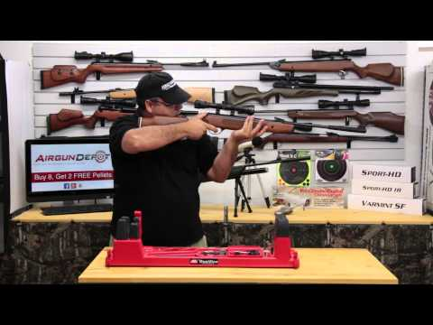 .25 cal airgun - Please scroll down for more information and links to the products used in this video: The Hatsan Striker 1000x Vortex is Hatsan's entry level airgun using th...