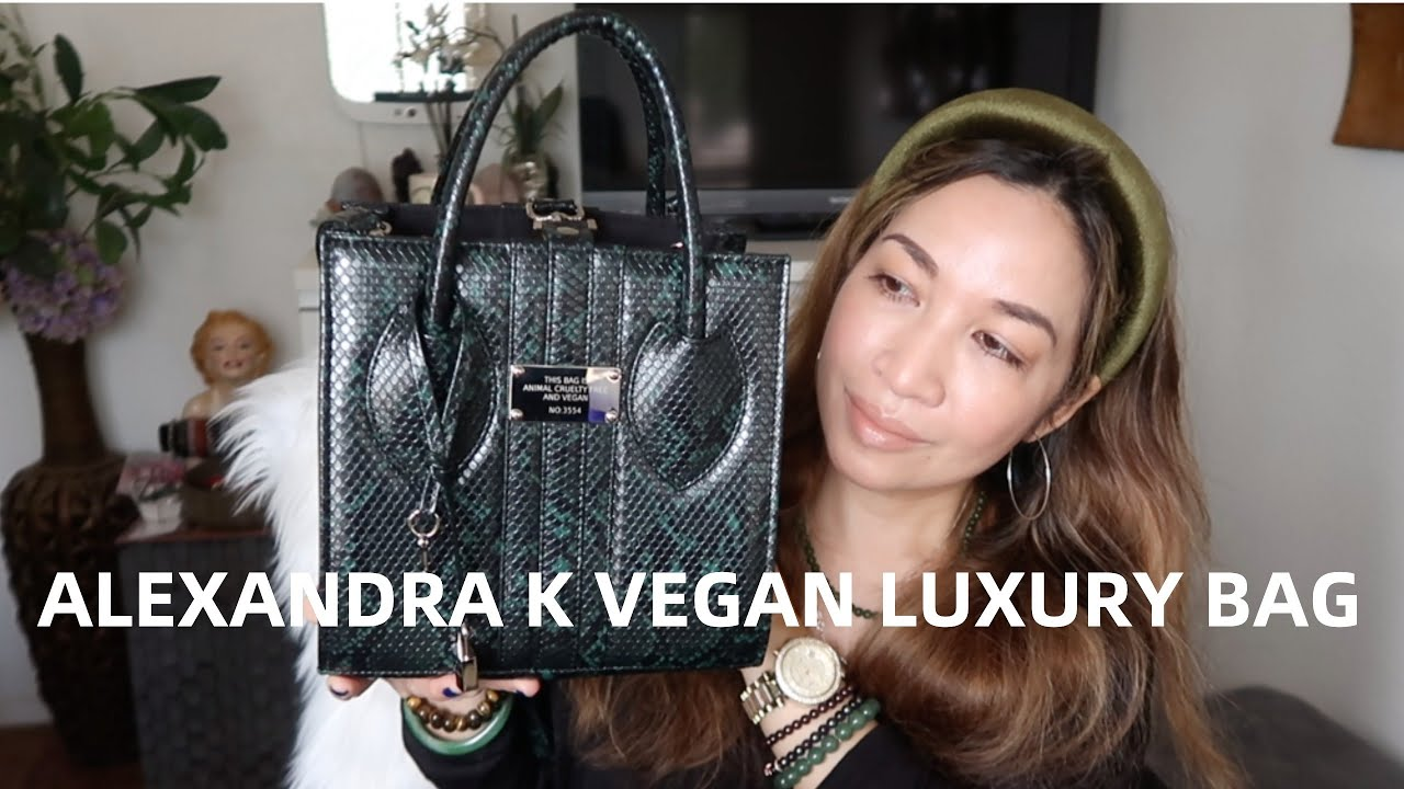 ALEXANDRA K 1.6 VEGAN DESIGNER HANDBAG REVIEW + WHAT FITS INSIDE | thefabzilla