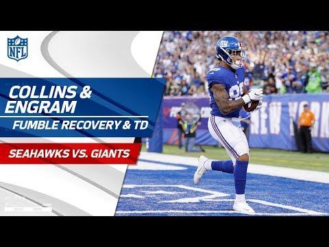 Landon Collins' Crazy Fumble Recovery Sets Up Evan Engram's TD! | Seahawks vs. Giants | NFL Wk 7 (видео)