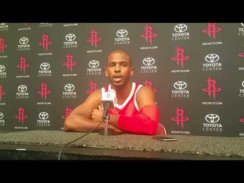 Chris Paul - Houston Rockets Media Day 2017