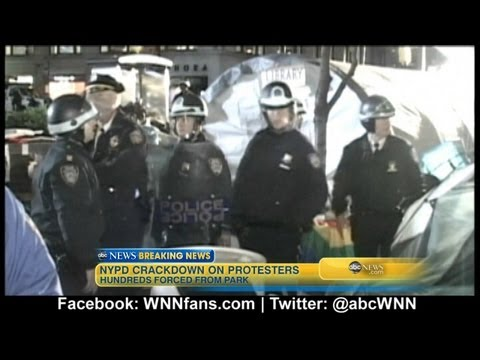 Occupy Wall Street Protesters Cleared From Zuccotti Park