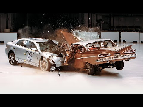 Chevrolet - IIHS 50th anniversary demonstration test • September 9, 2009 In the 50 years since US insurers organized the Insurance Institute for Highway Safety, car cras...