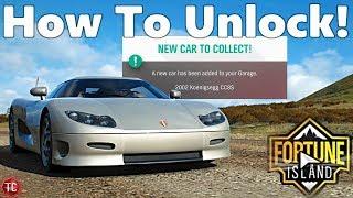 Forza Horizon 4: FORTUNE ISLAND Part 6: How To Unlock The Koenigsegg CC8S!!