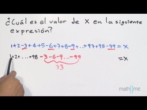 Berechnen Sie den Wert des Ausdrucks 1 4 2-3 5-6 + ... 98-99