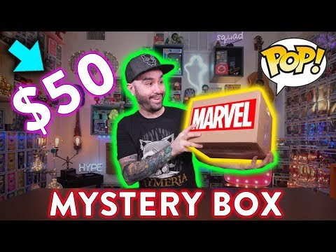 $50 Funko Pop Marvel Grail Mystery Box Unboxing!