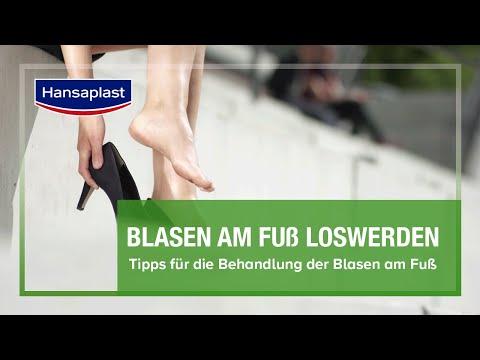 Blasen an den Füßen schnell heilen mit dem intelligenten Hansaplast Blasen-Pflaster