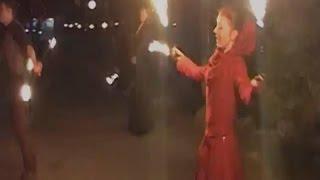 Фаєр шоу в новорічну ніч