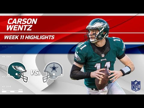Carson Wentz Leads Philly to Victory vs. Dallas!   Eagles vs. Cowboys   Wk 11 Player Highlights