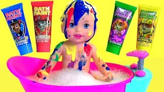 Video Little Mommy Bubbly Bathtime Color Changing Baby Doll with Bath Paint Paw Patrol by Disney Collector MP3, 3GP, MP4, WEBM, AVI, FLV November 2017