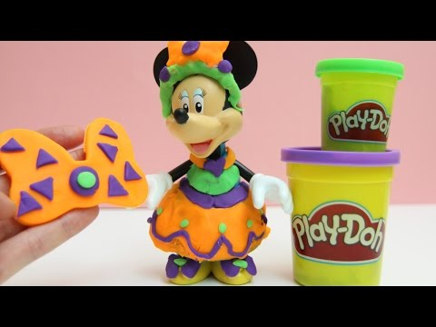 minnie - Minnie Mouse Play Doh Dress Gown Prom Dress Mickey Mouse Clubhouse Disney Junior Toys Review http://www.youtube.com/user/UnboxingSurpriseEgg Playdough, Play-Doh, Clay, Plasticine, ...