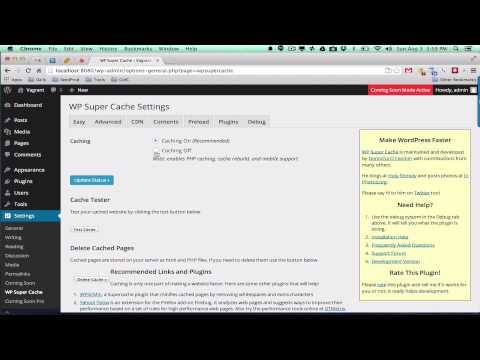 how to remove wp super cache