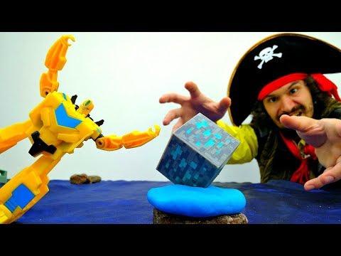 Видео для детей. Энергон ЗЛА ⚡️ Драка Автоботы и Пираты ☠ Игры Трансформеры Игрушки для мальчиков