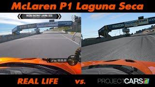 Confronto con la realtà McLaren P1 - Laguna Seca
