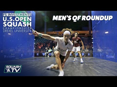 Squash: Men's Quarter Final Roundup Pt. 1 - US Open 2018