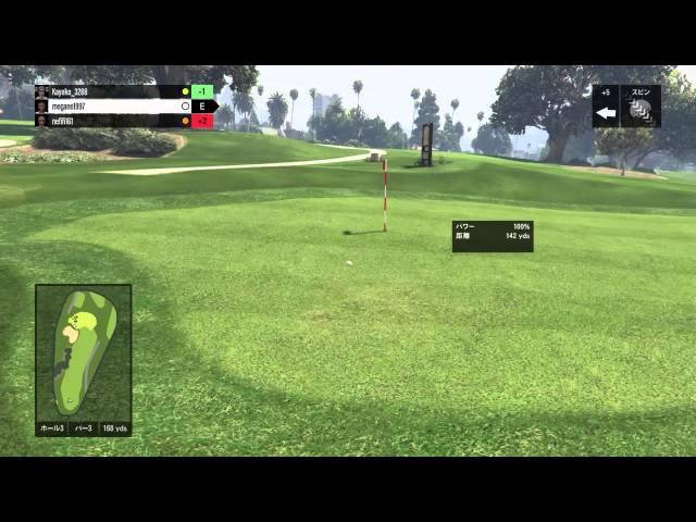 【GTA5】SREX ゴルフでホールインワン!