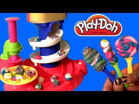 Play Doh Candy Cyclone Playset Sweet Shoppe Make Gumballs Candies Lollipops Gumball Machine Clay