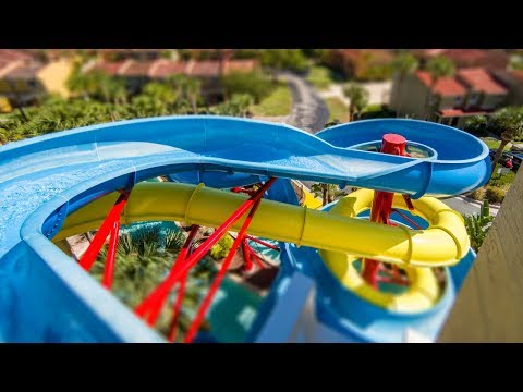 Fantasy World Resort  - Blue Splashtacular Waterslide Onride POV