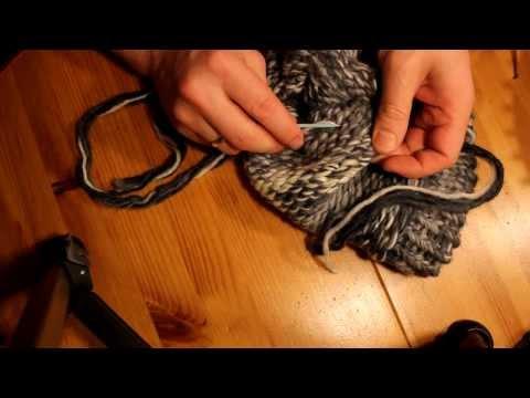 Mütze mit Strickrahmen stricken Teil 06/06: Fäden vernähen