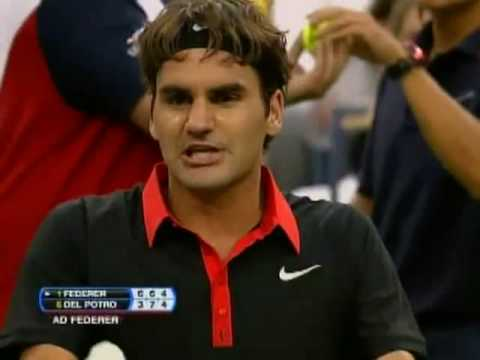 Federer upset at play vs Del Potro