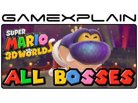 bosses - http://www.GameXplain.com We play through every boss fight and boss battle in Super Mario 3D World for the Wii U! This includes Bowser, Boom Boom, Pom Pom, H...
