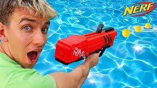 NERF GUN VS WATER!!