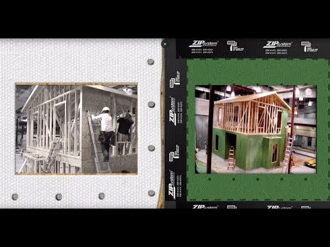 ZIP System™ tape installs 40% faster than housewrap.