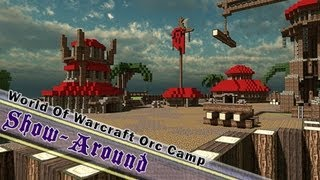 Minecraft Orc Themed Project, World Of Warcraft Orc Camp, By Jeracraft