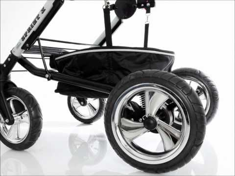 Sprint X Pram Pushchair Stroller with swivel wheels im Lux4Kids Kinderwagen Test