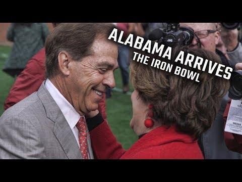 Alabama Arrives for the Iron Bowl at Jordan-Hare Stadium