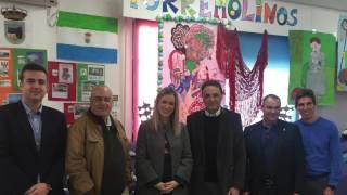 VISITA DE LA DELEGADA DE EDUCACIÓN Y EL ALCALDE DE TORREMOLINOS.