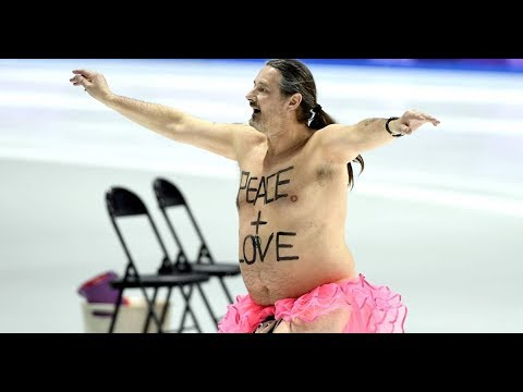 Veteran streaker comes out of retirement to light up Winter Olympics   with pink tutu and