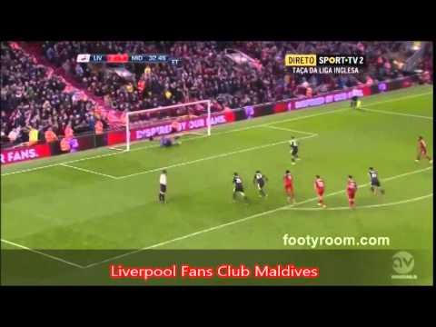 liverpool 2-2 middlesbrough  Penalties scoreline 14-13 England Capital One Cup 2014 09