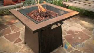 Gas Fire Pit Table with Tile Top - GAD1001B