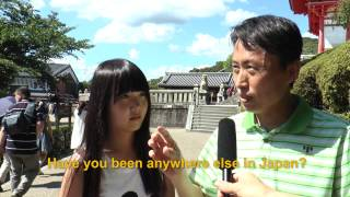 Travelers' Voice of Kyoto: KIYOMIZU DERA Area Interview011