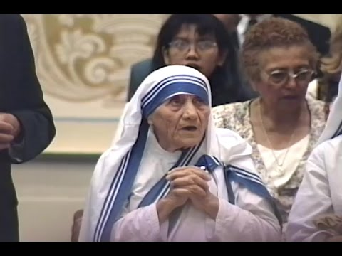 other Teresa speaks at the Profession of new sisters