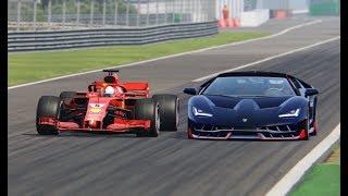 Video Ferrari F1 2018 vs Lamborghini Centenario - Monza MP3, 3GP, MP4, WEBM, AVI, FLV November 2018