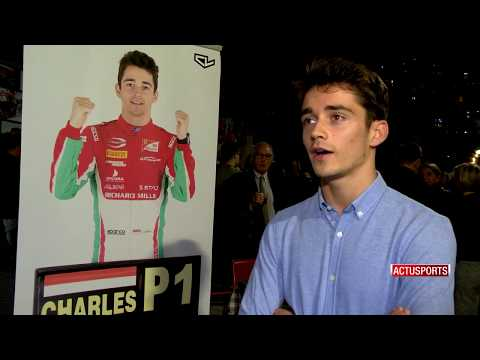 Charles Leclerc celebrates title in Monaco