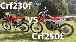 2. Honda Crf230f vs Crf250L Offroad (Review)