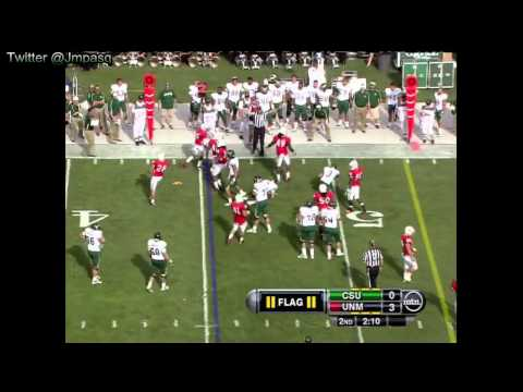 Pete Thomas vs New Mexico 2011 video.