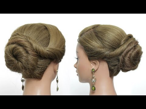 Quick Party Updo. Easy Bun Hairstyles For Long Hair Tutorial.