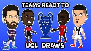 Teams reactions to the champions league quarter finals draws.